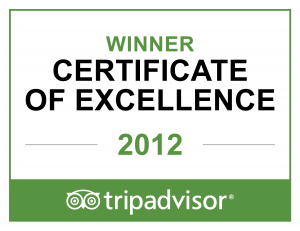 2012 Trip Advisor badge