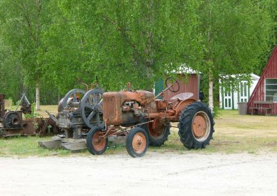 old tractor and other machinery